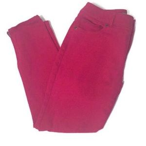 Chico's red raspberry ankle skinny jeans
